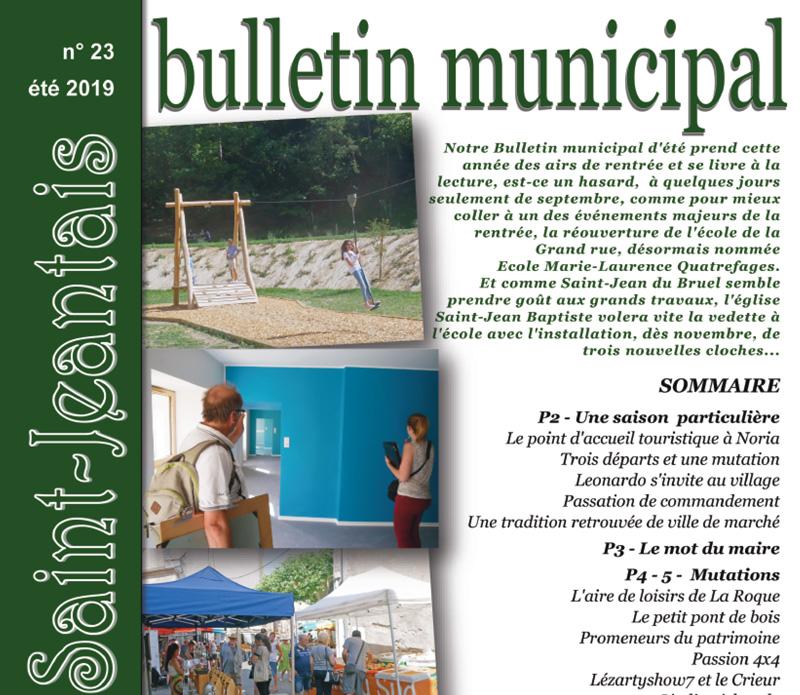 Bulletin municipal n°23, été 2019