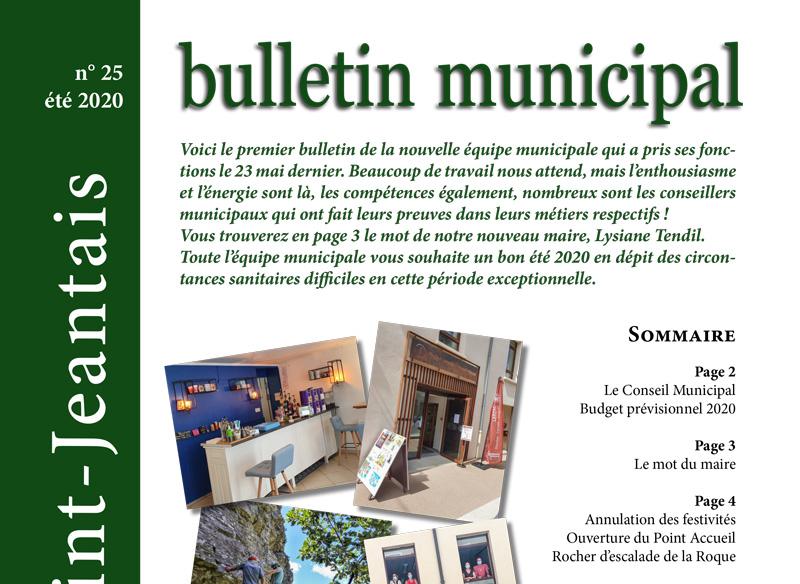Bulletin municipal n°25, été 2020
